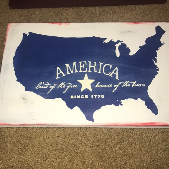 Other - America wooden plaque